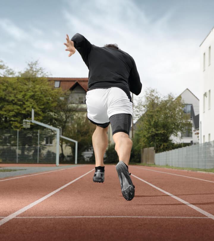 Kompressionsbandage für die Leichtathletik Sprint
