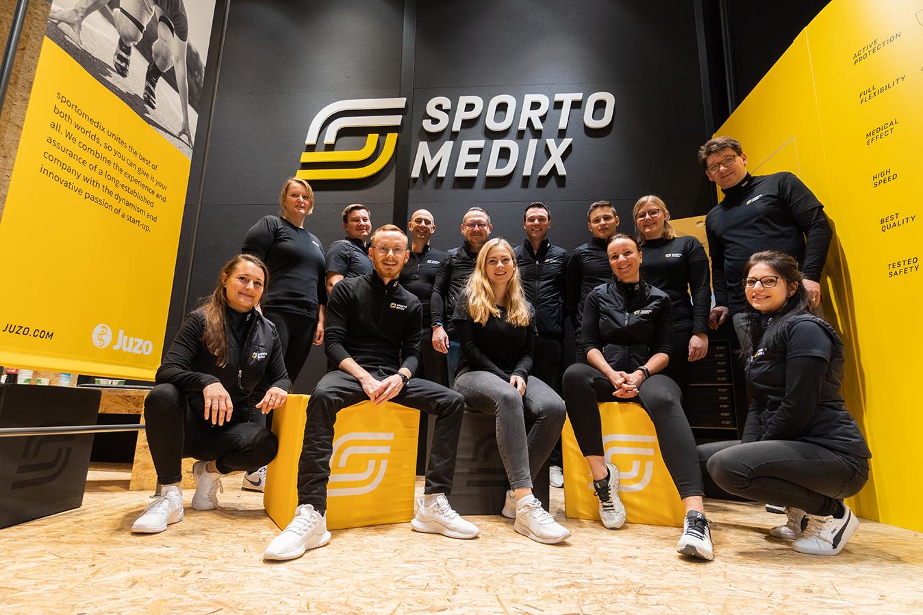 sportomedix Team auf der ISPO